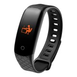 CB608 0.96 inch TFT Color Screen Smart Bracelet IP68 Waterproof, Support Call Reminder/ Heart Rate Monitoring / Blood Pressure Monitoring/ Sleep Monitoring/Excessive Sitting Reminder (Black)