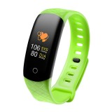 CB608 0.96 inch TFT Color Screen Smart Bracelet IP68 Waterproof, Support Call Reminder/ Heart Rate Monitoring / Blood Pressure Monitoring/ Sleep Monitoring/Excessive Sitting Reminder (Green)