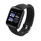 116plus 1.3 inch Color Screen Smart Bracelet IP67 Waterproof, Support Call Reminder/ Heart Rate Monitoring / Blood Pressure Monitoring/ Sleep Monitoring/Excessive Sitting Reminder/Blood Oxygen Monitoring (Black)