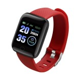 116plus 1.3 inch Color Screen Smart Bracelet IP67 Waterproof, Support Call Reminder/ Heart Rate Monitoring / Blood Pressure Monitoring/ Sleep Monitoring/Excessive Sitting Reminder/Blood Oxygen Monitoring (Red)