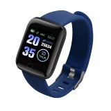 116plus 1.3 inch Color Screen Smart Bracelet IP67 Waterproof, Support Call Reminder/ Heart Rate Monitoring / Blood Pressure Monitoring/ Sleep Monitoring/Excessive Sitting Reminder/Blood Oxygen Monitoring (Blue)