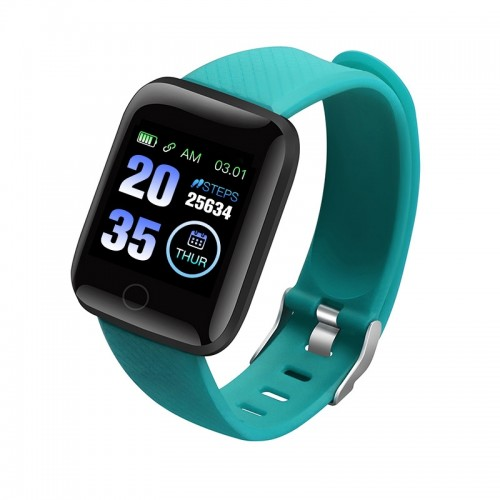 116plus 1.3 inch Color Screen Smart Bracelet IP67 Waterproof, Support Call Reminder/ Heart Rate Monitoring / Blood Pressure Monitoring/ Sleep Monitoring/Excessive Sitting Reminder/Blood Oxygen Monitoring (Green)