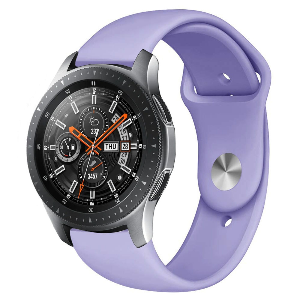 Monochrome Silicone Strap for Apply Samsung Galaxy Watch Active 20mm (Pastel Violet)