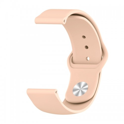 Monochrome Silicone Strap for Apply Samsung Galaxy Watch Active 20mm (Pink Sand)