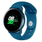 Monochrome Silicone Strap for Apply Samsung Galaxy Watch Active 20mm (Rock Cyan)