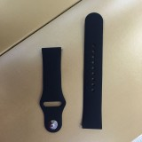 Monochrome Silicone Strap for Apply Samsung Galaxy Watch Active 22mm (black)