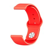 Monochrome Silicone Strap for Apply Samsung Galaxy Watch Active 22mm (red)