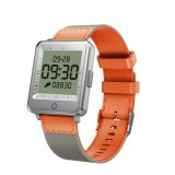 V16 1.2 inch IPS Dual Screen Smartwatch IP67 Waterproof, Nylon Watchband,Support Call Reminder / Heart Rate Monitoring/Blood Pressure Monitoring/Sleep Monitoring/Blood Oxygen Monitoring (Orange)