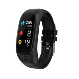 CES12 0.96 inch IPS Color Screen Smartwatch IP67 Waterproof, Support Call Reminder / Heart Rate Monitoring/Blood Pressure Monitoring/Sleep Monitoring/Blood Oxygen Monitoring/USB Flash Drive (Black)