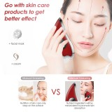 K-SKIN KD817 Facial Scratch Pad Dredge Meridian Soothing Fatigue Scraping Plate Electric Massager Soothing Stress USB Charging (Red)