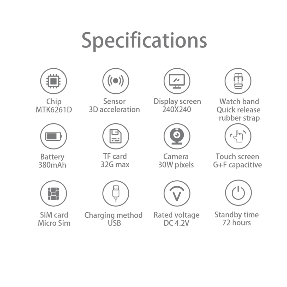 L9 1.5 inch TFT Color Screen Smart Watch,Support SIM Card /32GB TF Card /Remote Camera Function/Sleep Monitoring/Sedentary Reminder (Black)