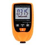 GM998 Digital Thickness Gauges Paint Coating Thickness Gauge Car Thickness Gauges Tester With Backlight Film (Orange)