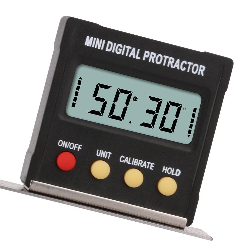 RZ2010 360 Degree Mini Digital Protractor Inclinometer Electronic Level Box Magnetic Base Measuring Tools