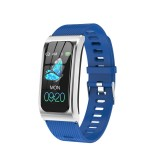 AK12 1.14 inch IPS Color Screen Smart Watch IP68 Waterproof,Silicone Watchband,Support Call Reminder / Heart Rate Monitoring/Blood Pressure Monitoring/Sleep Monitoring/Predict Menstrual Cycle Intelligently (Blue)