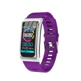 AK12 1.14 inch IPS Color Screen Smart Watch IP68 Waterproof,Silicone Watchband,Support Call Reminder / Heart Rate Monitoring/Blood Pressure Monitoring/Sleep Monitoring/Predict Menstrual Cycle Intelligently (Purple)