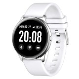 KW19 1.3 inch TFT Color Screen Smart Watch,Support Call Reminder / Heart Rate Monitoring/Blood Pressure Monitoring/Sleep Monitoring/Blood Oxygen Monitoring (White)