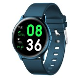 KW19 1.3 inch TFT Color Screen Smart Watch,Support Call Reminder / Heart Rate Monitoring/Blood Pressure Monitoring/Sleep Monitoring/Blood Oxygen Monitoring (Bluish)