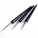 3 PCS Dotting Painting Drawing UV Gel Liner Polish Brush Tool Nail Art Pen