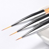 3 PCS Professional Nail Handle Liner Brush Hand Draw Kit Tips Drawing Line Painting Tools Manicure Nail Art Decoration