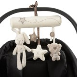 Newborn Baby Rattles Music Hanging Bed Safety Seat Plush Toy Hand Bell Multifunctional Stroller Toy (Rabbit car hanging)