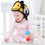 Baby children Infant Protective Cotton Head Protection Soft Hat Helmet Anti-collision Security Safety Sport Baby Caps (Bee)