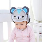 Baby children Infant Protective Cotton Head Protection Soft Hat Helmet Anti-collision Security Safety Sport Baby Caps (Bear)