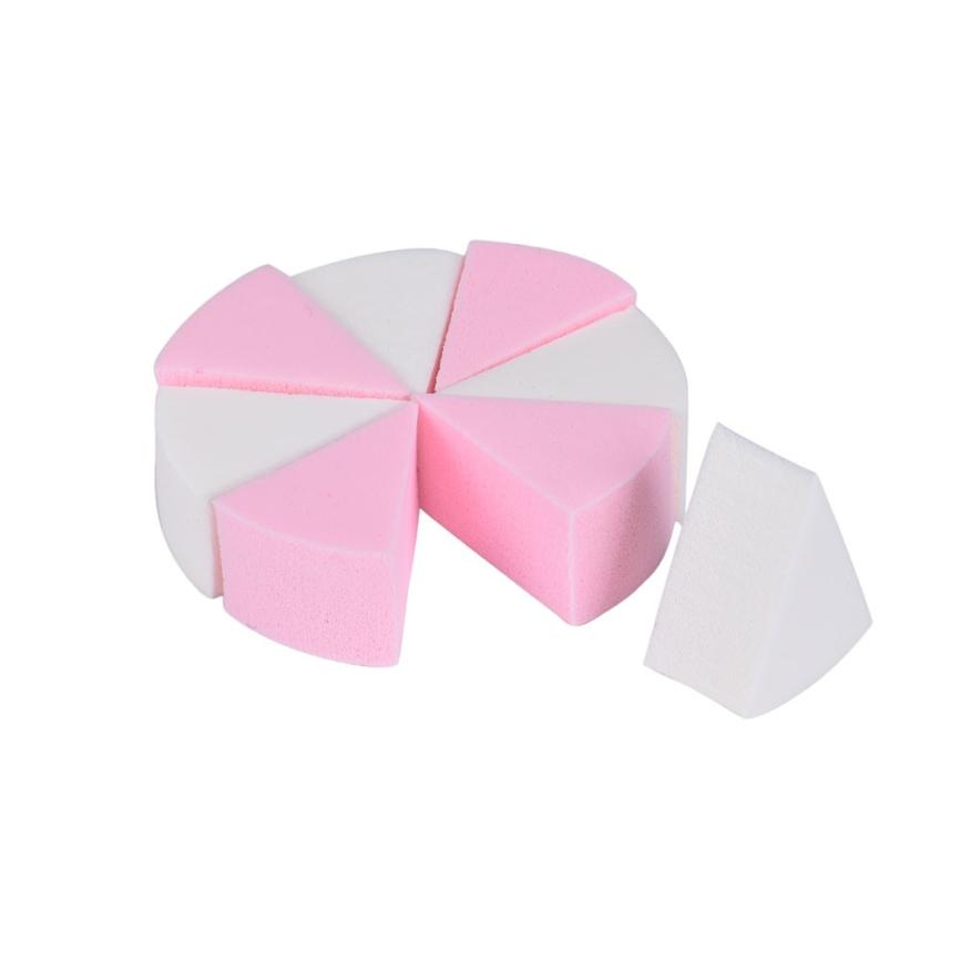 3 Sets Soft Sponges Riangle Round 8 Cut Puff Foundation Maquiagem Face Make up Tools (Multi)