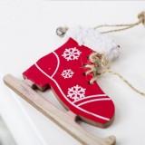 2 PCS Christmas Home Decoration Supplies Creative Skates Pendant, Color: Red