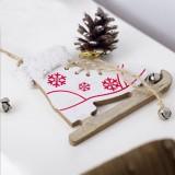 2 PCS Christmas Home Decoration Supplies Creative Skates Pendant, Color: White