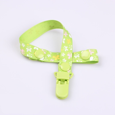 2 PCS Baby Pacifier Clip Pacifier Chain Dummy Clip Nipple Holder For Nipples Children Pacifier Clips Teether Anti-drop Rope (14 Cyan butterfly)
