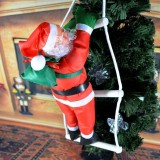 3 PCS Christmas Pendant Ladder Santa Claus Doll Tree New Year Ornaments (25cm 1 person)
