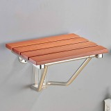 Folding Solid Wood Wall Mounted Relaxation Shower Chair (F Fype With Feet)
