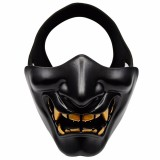 WosporT Halloween Dancing Party Grimace Half Face Tactical Mask (Black)