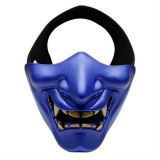 WosporT Halloween Dancing Party Grimace Half Face Tactical Mask (Blue)