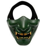 WosporT Halloween Dancing Party Grimace Half Face Tactical Mask (Green)