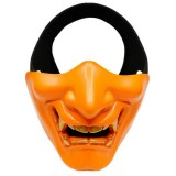 WosporT Halloween Dancing Party Grimace Half Face Tactical Mask (Orange)