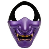 WosporT Halloween Dancing Party Grimace Half Face Tactical Mask (Purple)