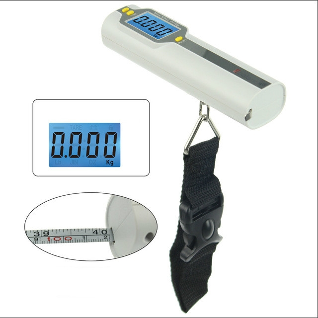 50kg x 10g Portable Electronic LCD Digital Hanging Luggage Scale
