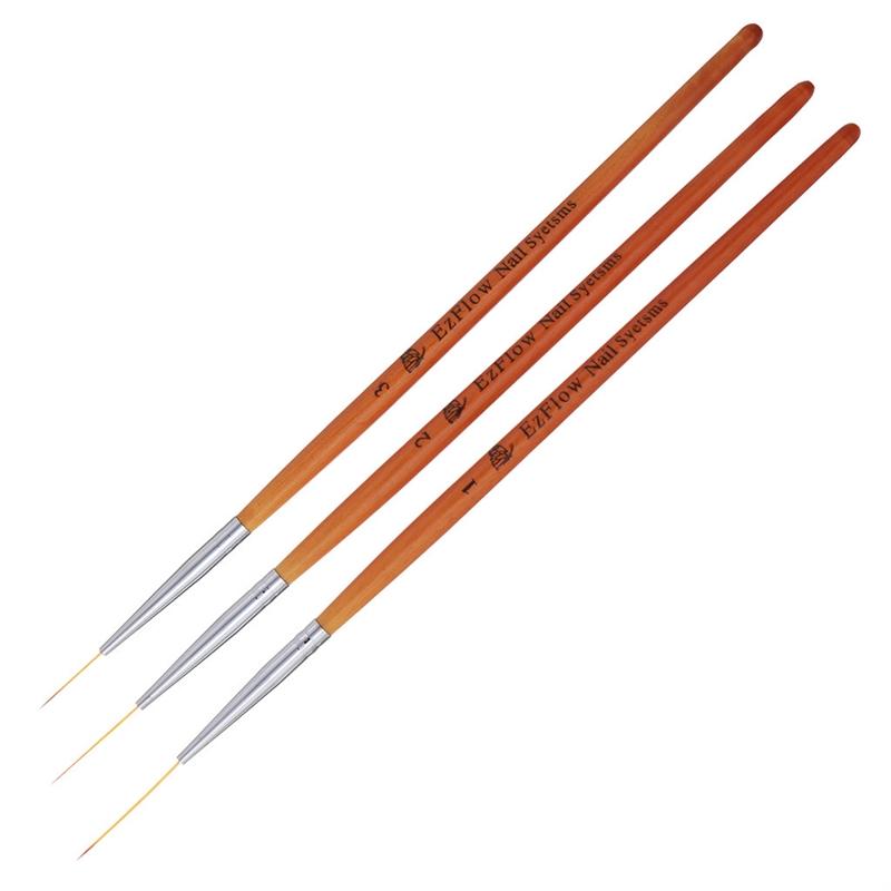 3 PCS Acrylic Nail Art UV Gel Design Dot Painting Detailing Pen Brushes Tool Set Nail Art Tools