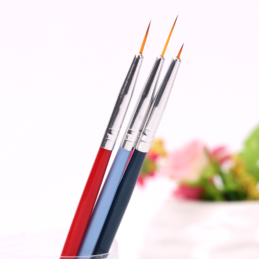 Nail Brushl Art Line Painting Pen 3D Tips DIY Acrylic UV Gel Brushes Drawing Design Girl Manicure Painting Tool