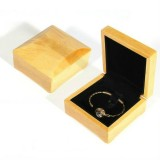 Wood Color Wooden Jewelry Packing Case Portable Wedding Ring Bracelet Pendant Display Box Gift Box, Type: Bracelet Box