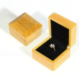 Wood Color Wooden Jewelry Packing Case Portable Wedding Ring Bracelet Pendant Display Box Gift Box, Type: Ring Box