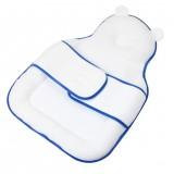 Baby Sleeping Mat Multifunctional Pillow Bed Mattress Portable Travel Mat Bed (Blue)