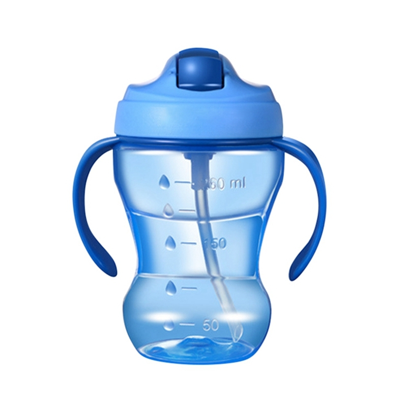 260ML Child Kid Leak-proof Drinking Cup Training Sippy Cup With Handle Water Cup
