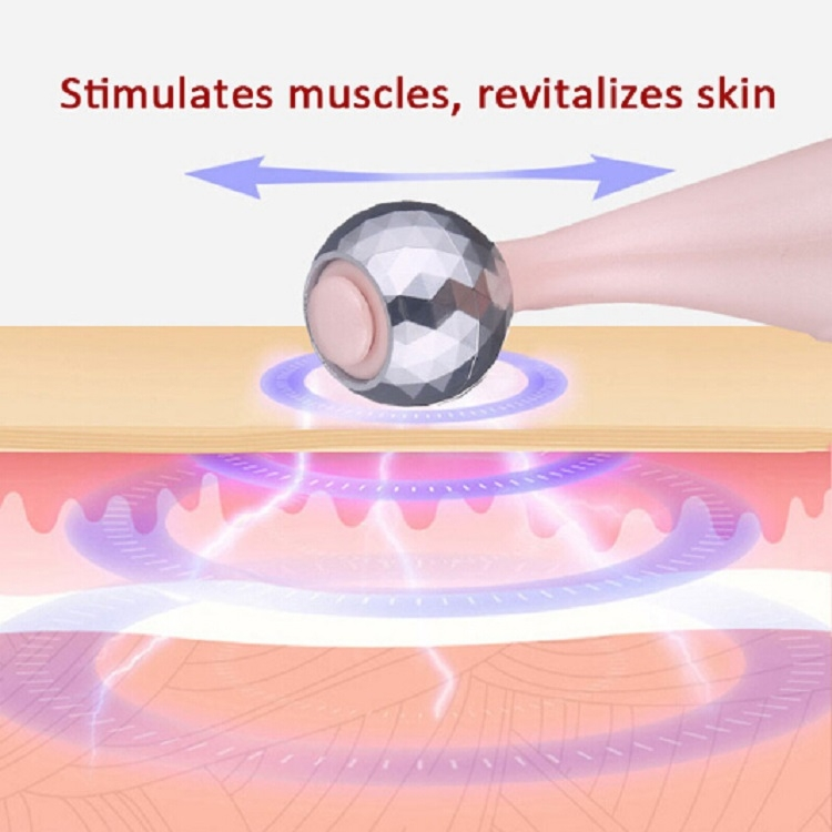 3 In 1 Portable Electric Eye Massager Double Chin Face Lift Body Neck Massage Roller Anti Wrinkle 3D Facial Massage Machine (Rose Gold)