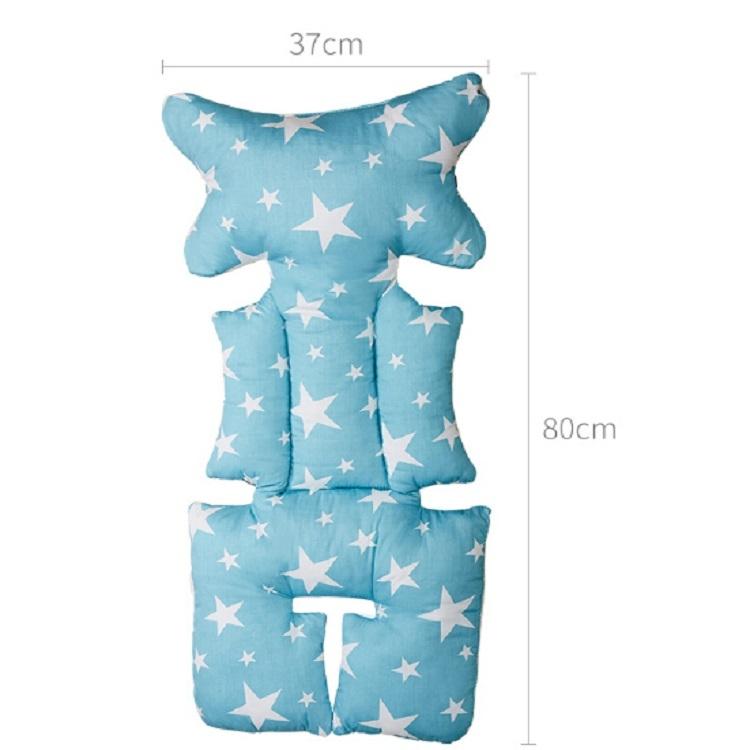 Fashion Baby Stroller Cushion Baby Seat Diaper Pad Stroller Mat Stroller Accessories (Blue)