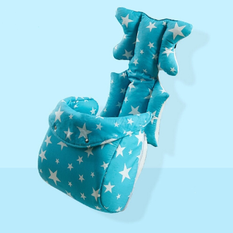 Fashion Baby Stroller Cushion Baby Seat Diaper Pad Stroller Mat Stroller Accessories (Blue with foot cover)