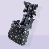 Fashion Baby Stroller Cushion Baby Seat Diaper Pad Stroller Mat Stroller Accessories (Gray with foot cover)