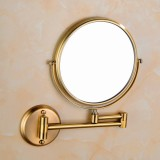 Wall-mounted Hotel Vanity Mirror Folding Double-sided Bathroom Mirror Green Bronze Mirror
