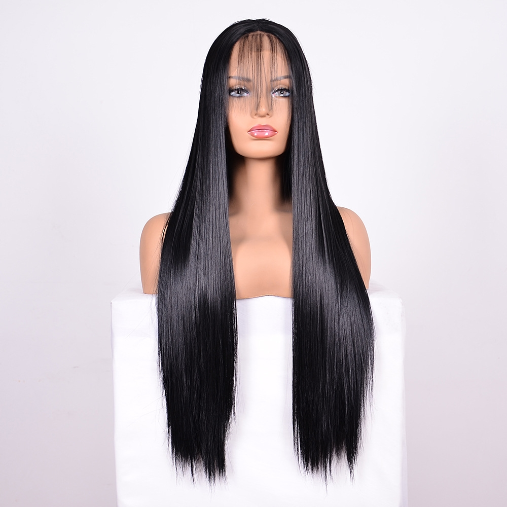 Straight Lace Front Human Hair Wigs Stretched Length 14 Inches Style 1 Alexnld Com